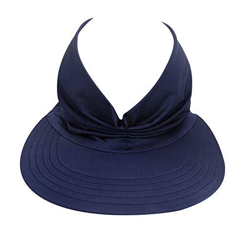 Featur123C Women Sun Protection Hat,Summer Anti-Ultraviolet Elastic Caps,Hollow Top Sun Visor Hat