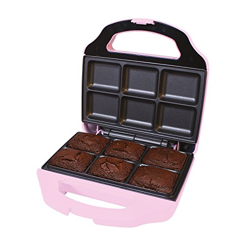 Global Gizmos 51390 Fun 6 Brownie Maker with Cool Touch Handle, Pink by Global Gizmos