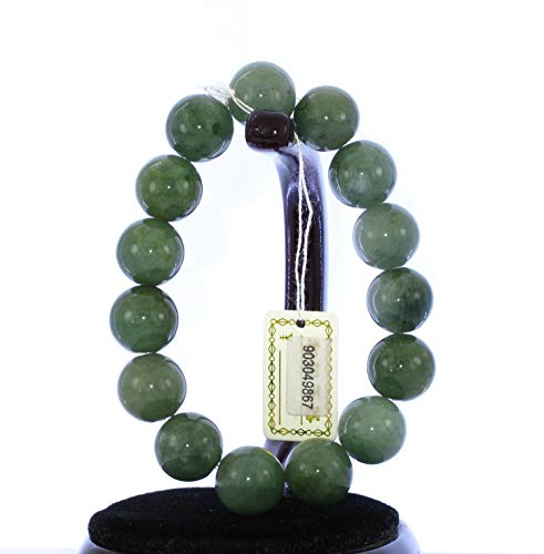 JL 5575 Damen-Armreif, China Zertifiziert, Nephrit, Jade, Grün, 6,4 cm