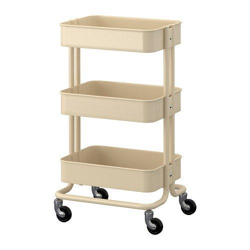 Ikea RASKOG - Trolley, beige - 35x45x78 cm
