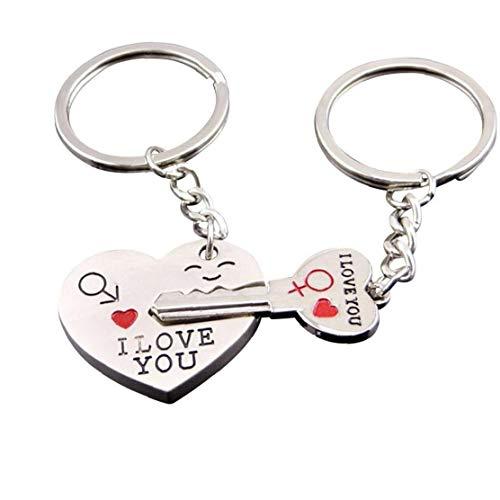 TOPofly Paar Schlüsselanhänger Kreative Liebe Schlüssel zu Meinem Herzen Schlüsselanhänger Set Netter Paare Schlüsselring für Unisex für die Reise
