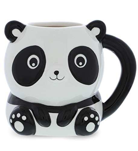 Mugniv Panda Bear Novelty Mug: Ceramic Cute Coffee Mugs & Tea Cup, Cool & Unique Animal Panda Coffee Mug for Coffee Lovers Gifts, Kids Mugs For Hot Chocolate, Panda Bear Hug Decor Kitchen Cups - 17 Oz