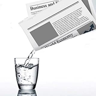 MilesMagic Appearing And Disappearing Liquid from Newspaper Gimmick Prop Magic Trick