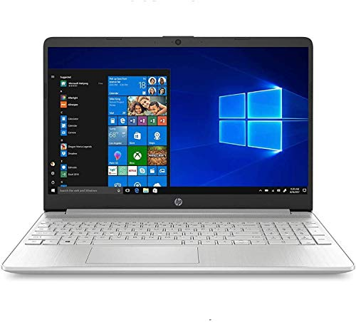 2020 Newest HP 15 Laptop Computer_ 10th Gen Intel Core i3 1005G1_ 15.6' Display_ 8GB DDR4 RAM_ 128GB SSD_ Bluetooth 4.2_ Type-C_ Silver_ Windows 10 in S_ Online Class Ready_ Webcam_ BROAGE Mouse Pad