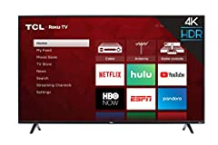 Dimensions (W x H x D): TV without stand: 44.1 X 25.7 X 3.2 inches, TV with stand: 44.1 X 28 X 8 inches Smart functionality delivers all your favorite content with over 500, 000 movies and TV episodes, accessible through the simple and intuitive Roku...