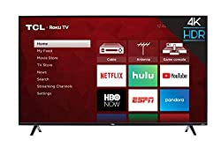 top rated TCL 50S425 50 inch 4K smart LED TV ROKU (2019) 2021