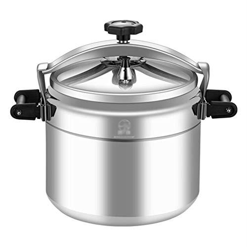 YUFHBDI Kommerzieller Hochleistungs-Aluminiumlegierungsdruckkocher, Haushaltsdruckkocher, Geeignet Für Den Multifunktionalen Stewing-Druckkocher In Der Restaurantkantine (Color : Silver, Size : 11L)