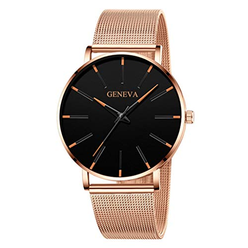 Bokeley Wristwatches, Men Watches, Mens Luxury Watches Quartz Watch Stainless Steel Casual Bracele Watch (F)