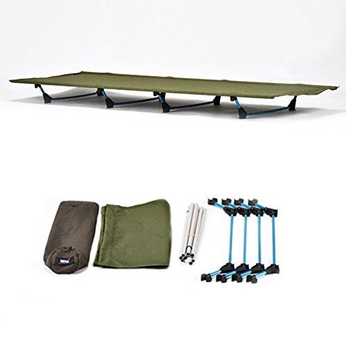 2.6 libras de aleación de aluminio de aviación ligero impermeable y resistente a los desgarros plegable para acampar resistente a la humedad cama de acampada para todo terreno 440 libras