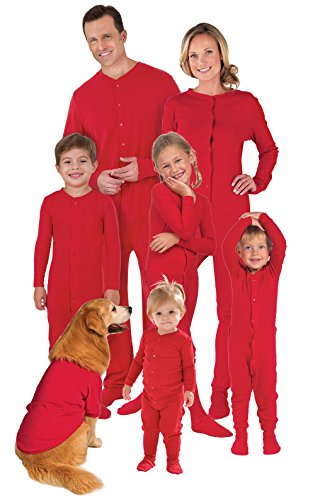 PajamaGram Family Christmas Pajamas Onesie - Women's, Dropseat, Red, 1X, 16-18