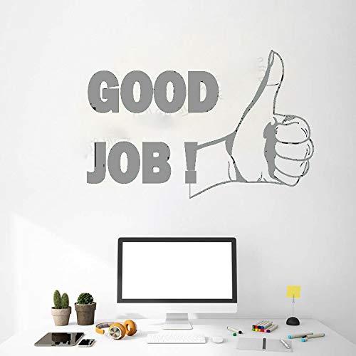Zaosan Buen Trabajo Cita Etiqueta de la Pared Oficina motivación inspiración Frase calcomanías Arte Interior Mural diseño Moderno Desmontable Gris 42x28cm