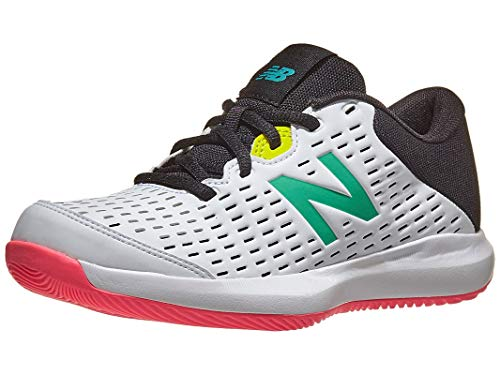 New Balance Kid's 696 V4 Tennis Shoe, White/Black, 6.5 M US Big Kid