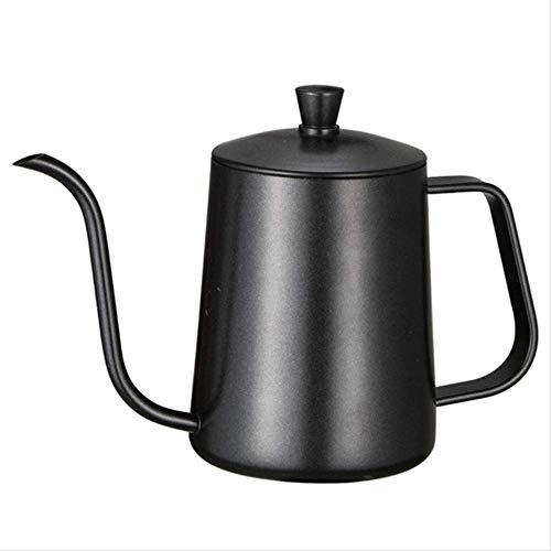 RVS Hand Punch Pot Koffiepotten met Deksel Druppel Zwanenhals Tuit Lange Mond Koffie Ketel Theepot 600ml