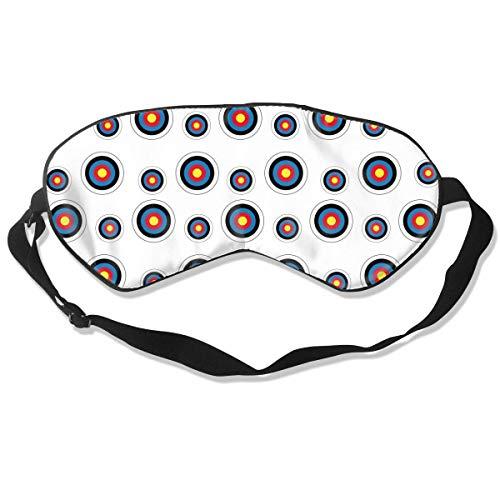 Premium Super weiche atmungsaktive Augenmaske mit verstellbarem Riemen – Bogenschießen Zielscheibe Colorado Kreis – Licht blockierende Schlafmaske für Reisen, Nickerchen, Yoga, Meditation