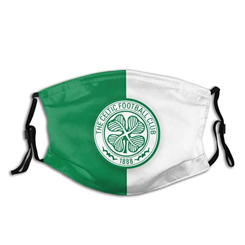 Celtic F.C. Unisex Breathable Dustproof Filter Face Masks with Nose Wire & Elastic Ear Loops(2 Filter)