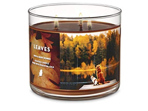 Bath & Body Works Leaves Scented Candle 14.5 Ounce 3 Wick