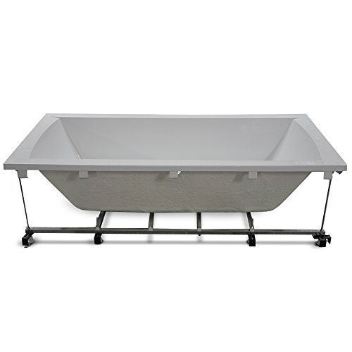 AQUADE Untergestell Wannenfüße für Badewanne Rechteckbadewanne höhenverstellbar Metall 180x80