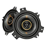 KICKER 47KSC404 KS Series Low Profile 4 Inch 4 Ohm 15 to 75 Watts RMS Power Factory Replacement Coaxial Car Audio Sound System Speakers (Pair)