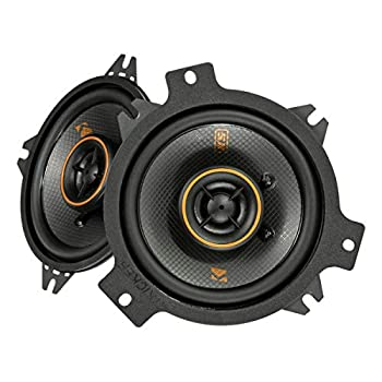 KICKER 47KSC404 KS Series Low Profile 4 Inch 4 Ohm 15 to 75 Watts RMS Power Factory Replacement Coaxial Car Audio Sound System Speakers  Pair