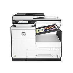 HP Imprimante multifonction couleur PageWide, recto-verso automatique, Wi-Fi Volume de pages mensuel recommandé : 750 à 4 500, maximum 50 000 pages Vitesse d'impression de 40 ppm en noir et en couleur, et première page sortie en 6,5 secondes ; vitess...