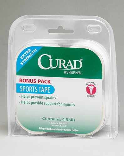 Curad Extra Strength Bonus Pack Sports Tape  15quot x 10 yds  4 rolls 40 yds total