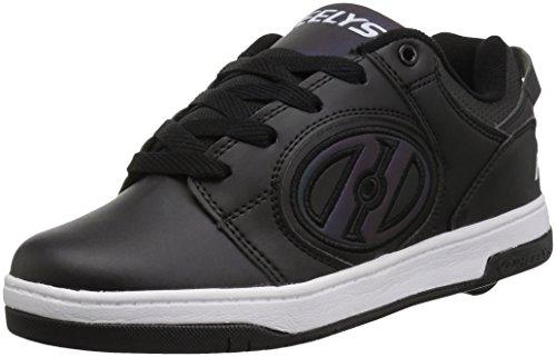 Heelys Boys' Voyager Tennis Shoe, Black Reflective/Balck, 5 Medium US Big Kid