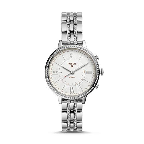 Fossile Jacqueline - hybride dames smartwatch gemaakt van zilver roestvrij staal - FTW5033