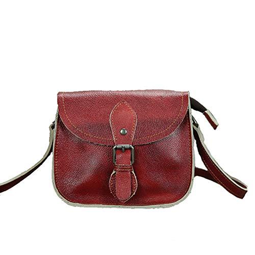 Bolso de piel de mujer de auténtica bolsa de cuero Bolso Tote a la moda piel vintage 100%