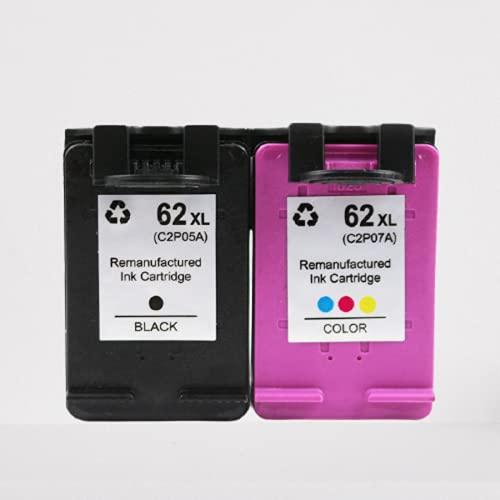 N\C Compatible con Cartuchos de Impresora remanufacturados HP para HP 62XL para Envy 5540, 5542, 5640, 5642, Officejet 200c 250258 5742 5743 5744