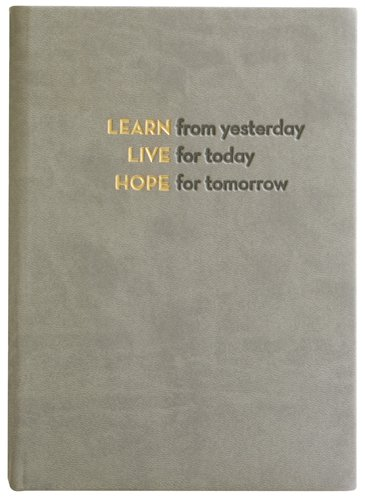 Embossed Learn, Live, Hope, Journal Diary, Hard Cover, Lined 5x7'