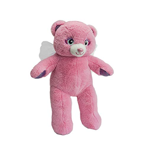 BEAREGARDS.COM Personalized Message Recordable 15 Inch Pink Angel Talking Teddy Bear with 30 Seconds of Recording Time.