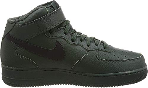 NIKE Herren Air Force 1 Mid '07 High-Top Sneaker, schwarz, 42.5 EU