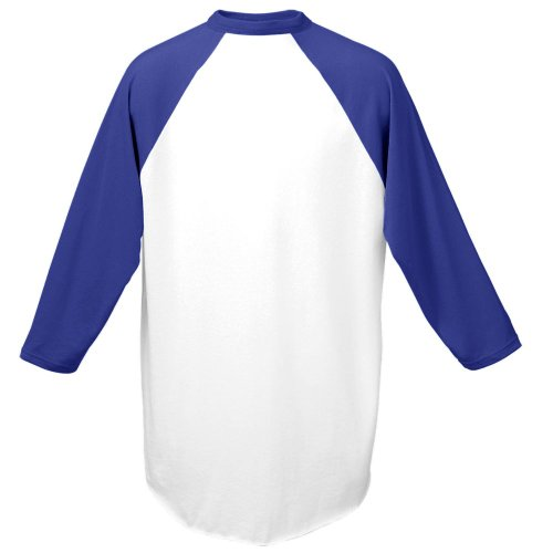 Augusta Herren Sportswear Baseball Jersey, Unisex - Erwachsene Herren, weiß/violett, Small