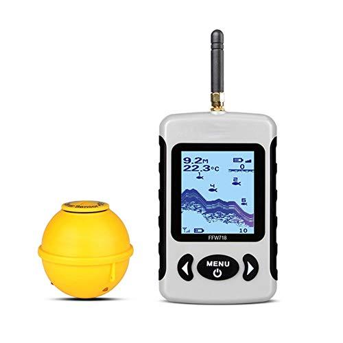 Inalámbrico buscador de los pescados, Sounder portátil inalámbrico profesional Sonar sonda detectora Matrix visible de alta definición Dot Matrix detector Swarm inalámbrico Búsqueda Pesca Pescado
