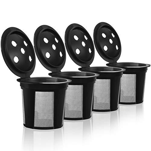 4 Reusable K Cups for Keurig K Supreme and Keurig K Supreme Plus Coffee Makers - 4 Refillable Kcups Coffee Filters for K-Supreme and K-Supreme Plus Brewers