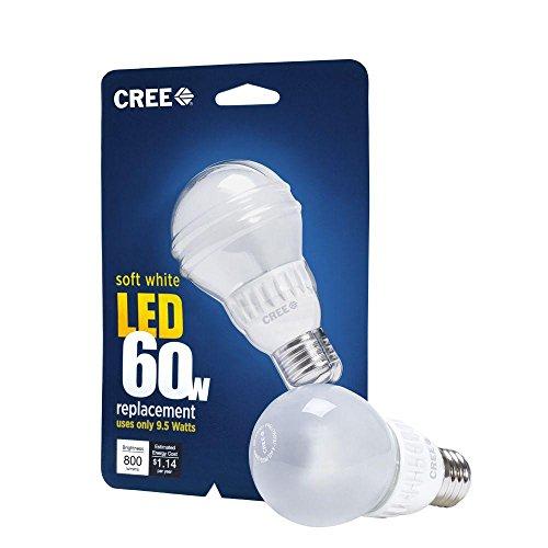 3 X Cree 9.5-Watt (60W) Soft/Warm White (2700K) LED Light Bulb