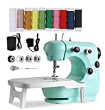 Upgraded Sewing Machine, CHARMINER Portable Multifunctional Electric Sewing Machines for Beginners, Adjustable 2-Speed 2-Thread Sewing Machine with Extension Table, Suitable for Denim, Leather etc DIY