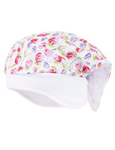 maximo Baby-Mädchen Kopftuch Mütze, Mehrfarbig (Rot-Lila-Früchte 17), 49