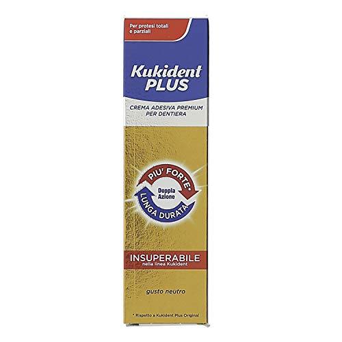 Kukident Plus Crema Adesiva Premium per Dentiera Gusto Neutro -...
