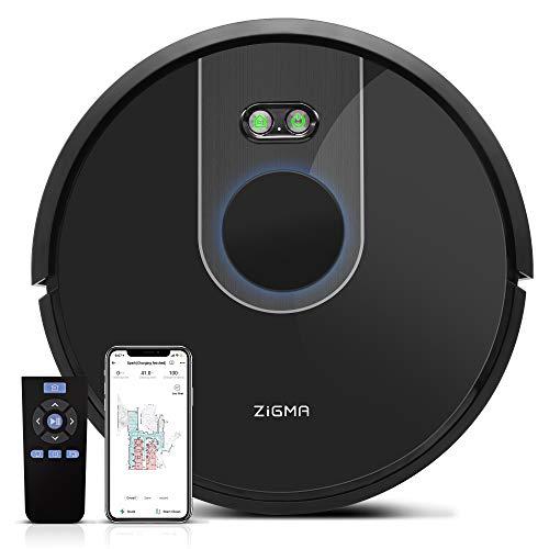 Zigma Spark Robot Aspirateur, Aspirateur Robot Laveur avec fonction d'essuyage, APP Exclusive et Navigation LDS. Parfait pour les Tapis/les Sols/les poils d'animaux.