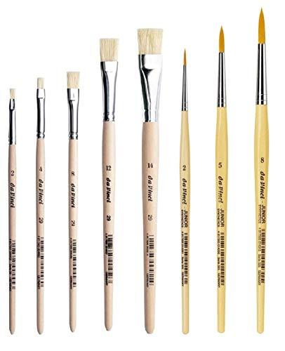 Da Vinci 29 Serie Flach-Pinsel/Borstenpinsel, Holz,2,4,8,12,14, Da Vinci Serie 303 Synthetics Malerpinsel, rund, 2, 5, 8. Set 8pcs