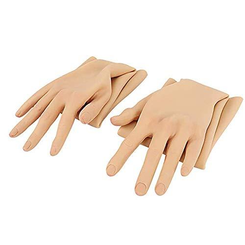 QQA 1 Paar Silikon Handschuhe CD Crossdresser Arm Bedeckt 23.4In Künstliche Haut Transvestit Simulation