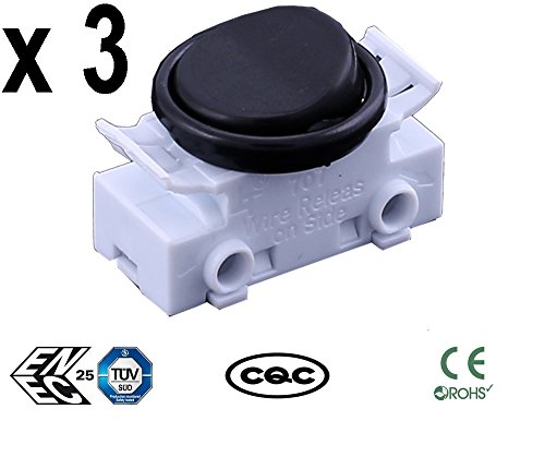 Sucre Auxiliary ® 3 Packungen von 2 A 250 VAC On-Off-Round Rocker Button Switches für Auto Boot Armaturenbrett UK Verkäufer
