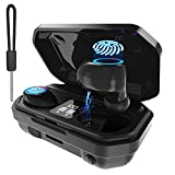 TWS-Wireless Bluetooth Earbuds, Touch Function, Automatic Pairing, Noise Reduction Using CVC8.0 Technology, HiFi high-Fidelity Professional Sound Quality, IPX7 Waterproof Headphones (Black)