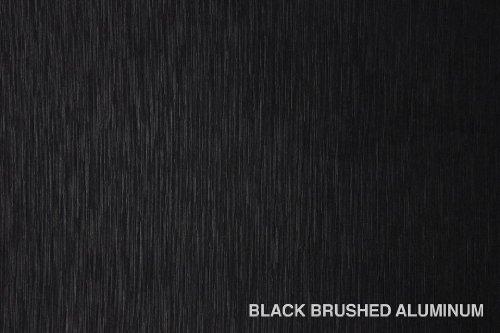 Negro cepillado aluminio anodizado 1,5x 10,7m 175sq ft fundido vinilo coche Nueva bubble-free Wrap interior