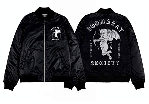 DOOMSDAY SOCIETY Cupido Light Bomber Jacket Black 2021 Limited Edition Negro M