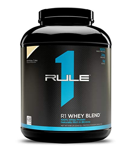 R1 Whey Blend, Rule 1 Proteins (Birthday Cake, 68 Servings)