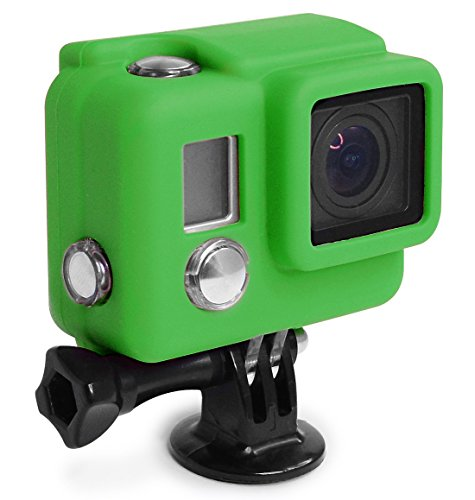 XSories Silicone Cover HD3+, Cover Fits All GoPro 3, GoPro 3+ Camera Housings, GoPro Accessories, GoPro 3 Accessories, GoPro 3+ Accessories (Green)
