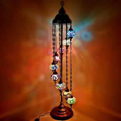 Türkisch Marokkanische Tiffany Stil Glasmosaik Stehleuchte Nachtlicht - MC11 X 5 Birnen Stehleuchte