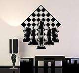 Jugador De Ajedrez Chessmen Adhesivos De Pared Vinilo Amigable Tablero De Ajedrez Tatuajes De Pared Papel Pintado Autoadhesivo Diy Mural S 63X73Cm